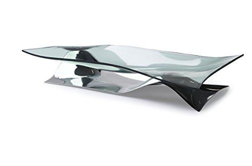 Bugatti Obstschale SOFFIO Basis aus Edelstahl mit rauchfarbener Schale