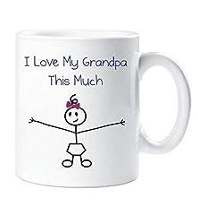 Idea Regalo - I Love My Nonno This Molto Ragazze Mug Festa Del Papà Nipote Regalo Daddy Compleanno Regalo Natalizio