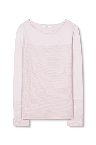 edc by ESPRIT Damen Pullover Rosa (Pastel Pink 695)