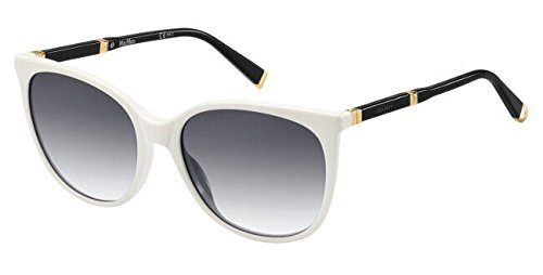 Max Mara Damen MM DESIGN II 9C 8OD 56 Sonnenbrille, Weiß (Whte Rose Gd/Dark Grey Sf),