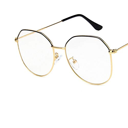 Sonnenbrille Big Frame Frauen Goldene Schwarze Brillengestell Aus Metall Brillen Vintage Klare Optische Gläser Fake Gläser