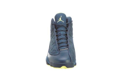 Nike Air Jordan 13 Retro, Scarpe Sportive Uomo squadron blue, electric yellow-black
