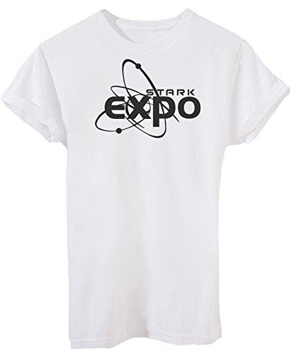 T-Shirt Stark Expo - Kino - iMage - Herren-M -Weiß