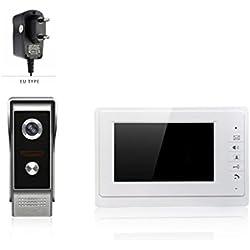 LUFA Videoportero intercomunicador V70F / M4 videoportero automático videoportero sistema de videoportero video portero infrarrojo cámara de visión nocturna kit de timbre para el hogar