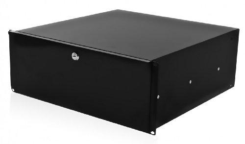 Preisvergleich Produktbild 4U Metall Schiebetür Rack Schublade mit Schnappverschluss und Tastensperre - 48,26 cm