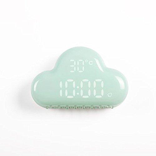 doxungo nube reloj despertador, nueva forma diseño reloj de alarma con control de voz inteligente, Control de sonido LED Digital Snooze alarma multifuncional clocksnooze función para duermen