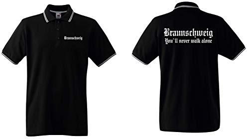 world-of-shirt / Braunschweig Herren Polo-Retro Fan Ultras