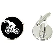 Gemelos de bicicleta estática bicicleta equitación Link Gemelos de plata para hombre gemelos