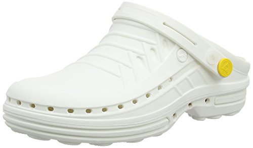 Wock - Wock Clog, Zoccolo, unisex, bianco (weiss), 37/38