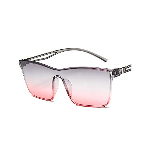 MINGW- Rimless Sunglasse Women Ocean Clear Lens Square Sun Glasses for Female Gradient Lens