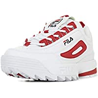 bfe7f546211 Fila Women s Sneaker Shoes Disruptor CB Low WMN in White Leather 1010604-02A