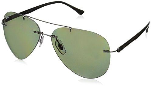 Ray-Ban RAYBAN Unisex-Erwachsene Sonnenbrille 8058 Gunmetal/Polargreen, 59