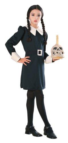 Für Fünf Kostüm Familie - Rubies Addams Family Kids Mittwoch Kostüm, Medium, Alter 5 - 7 Jahre, Größe 127 - 137 cm