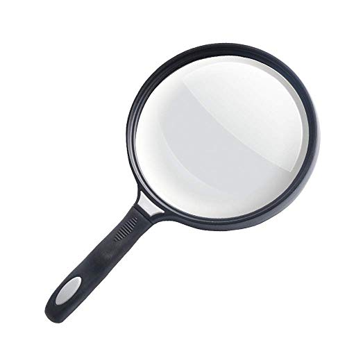 Power-High-Power-Hand-Held Magnifying Glas Nicht-Beleuchtung Optische Lens Hd Elderly Reading Zeitung Portable 125Mm Große Lens Kinder Studenten Beobachtung ()