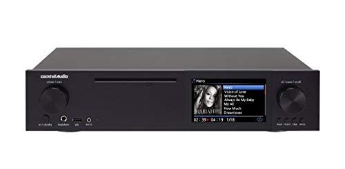 CocktailAudio X40 All-in-One HD Musikserver (Netzwerk Streamer/Streaming -Client, CD Ripper, DAC) schwarz inkl. 4 TB 3