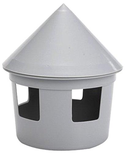 Beeztees Wassertränke für Vögel, Kunststoff, 1l Fassungsvermögen, Grau