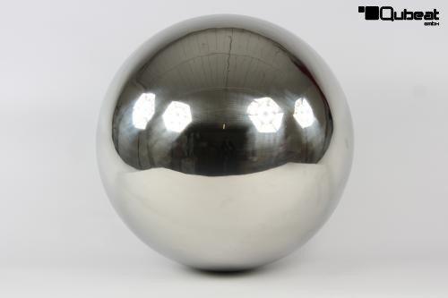 Qubeat Edelstahlkugel Ball poliert 30cm Ø Schwimmkugel Dekoration Rosenkugel