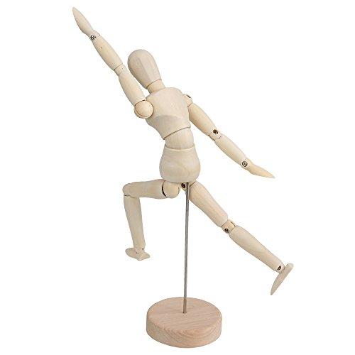 BQLZR Wooden Human Mannequin 8 Inch Manikin Sketch Model Art/ARTIST Unisex Model
