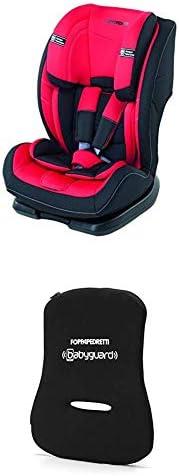 Foppapedretti Re-Klino Seggiolino Auto senza ISOFIX, Gruppo 1/2/3 per Bambini da 9-36 Kg, Rosso + Dispositivo