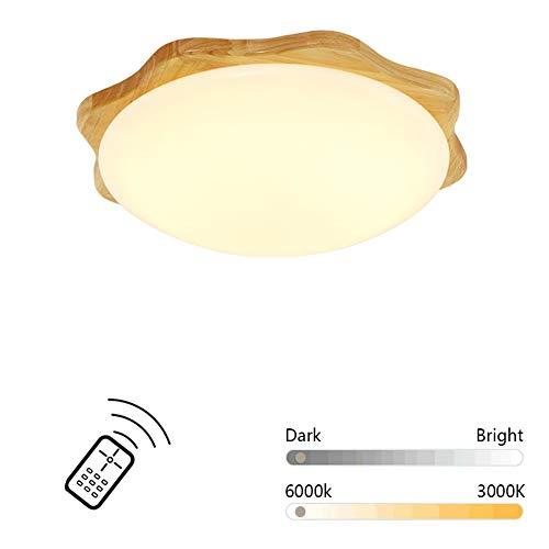 RREN-Ceiling light Lámpara de Techo de leña, lámpara de Techo Moderna y...