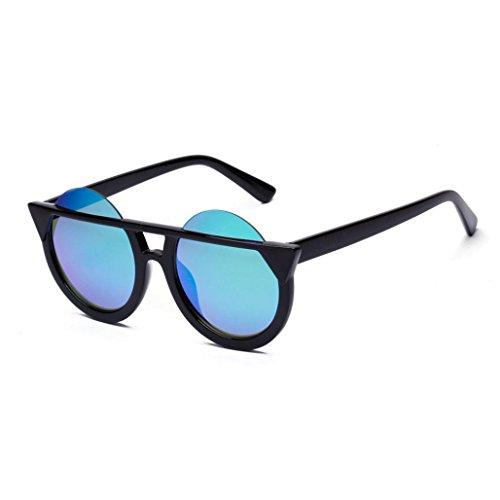 IGEMY Männer Frauen Retro Frame UV-Brillen, Kätzchen Auge Runde Sonnenbrille (D)