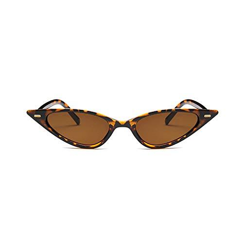 Sportbrillen, Angeln Golfbrille,Women Sexy Cat Eye Sunglasses Brand Designer Small Triangle Vintage Sun Glasses Retro Cateye Eyewear Purple Black Sunglass leopard