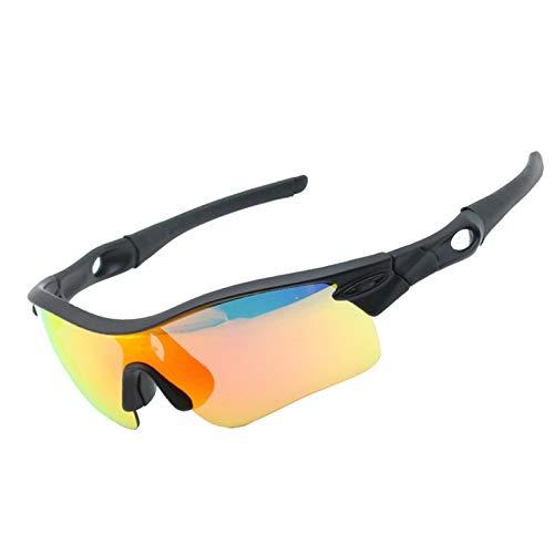 Gnzoe PC Fahrradbrille Polarisierte 5 Linsen/Set Sportbrille Schneebrille Nachtsichtbrille UV-Schutz...
