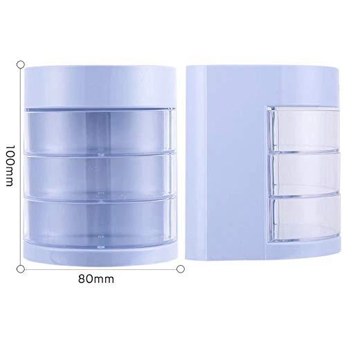 tiv Stifthalter, Business Bürobedarf Stifthalter Kunststoff Kugelschreiber-bleistift-cup Briefpapier-halter-blau 8x8x10cm(3x3x4inch) ()