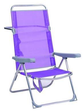 Alco 670 alf-0127 Chaise haute Plage, Fibreline, lilas, 95 x 65.5 x 13.5 cm