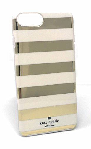 Kate Spade New York Candy Stripe Gold Cream Flexible Hardshell Case for iPhone 8 Plus & iPhone 7 Plus Kate Spade Belle