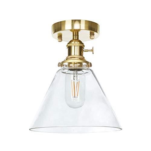 Dsti Vintage Industrie Glas Deckenlampe Restaurant Bar Wohnzimmer Esszimmer (ohne Glühbirne) -