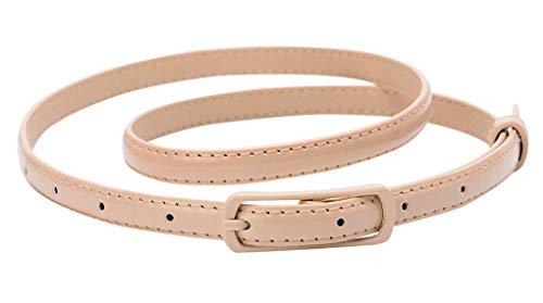 Faux Leder Schnalle (Selighting Damen Ledergürtel Schmale Damengürtel PU-Leder für Kleider (Khaki))