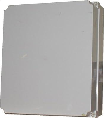 Industriegehäuse Schaltkasten Kunststoffgehäuse Verteiler 400x350x130mm von MKV - Lampenhans.de