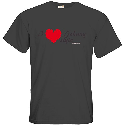 getshirts - Die Grillshow - The Shop - T-Shirt - Grillshow I love Johnny style Dark Grey