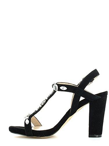 Liu Jo Shoes S15049P0021 sandale Femme Daim Noir - Nero