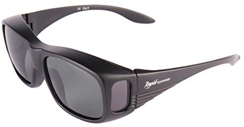 Rapid Eyewear ÜBERBRILLE Sonnenbrille für Damen und Herren. Werde über Gläser bis 130mm Breite x 38mm hoch gehen. Polarisierte Sonnenüberbrille. Ideal Radbrille, Autobrille und Anglerbrille