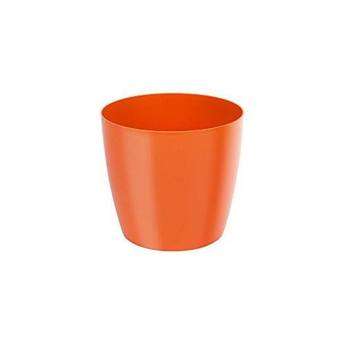 Classique luisant cache-pot LOBELIA, 14 cm, en orange