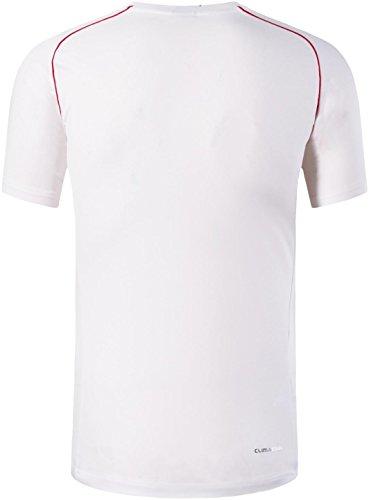 jeansian Herren Sportswear Quick Dry Short Sleeve TShirt LSL020 LSL116White