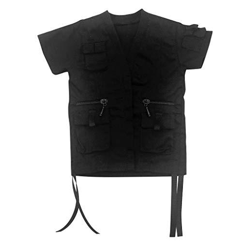 sharprepublic 1/6 Mann Kurzarm Wind Mantel Für 12 Zoll Drachen Männlicher Soldat Körper Kostüm