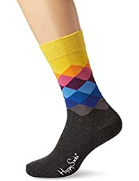 Happy Socks Unisex Faded Diamond Sock, 100 Den