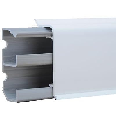 (14,95 Euro/m) Sockelleistenkanal 20 x 50 mm alpinweiß Länge 2 m (mit elastischer Anschlusslippe)