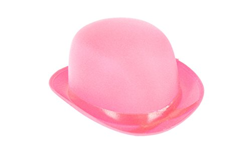 Ankleiden Party Kostüm BOWLER Hut (Pink)