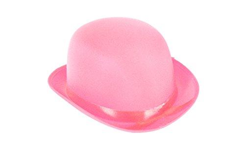üm BOWLER Hut (Pink) (Mob Kostüme Halloween)