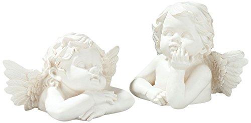 Pajoma 10640, set di 2angelo busto raffael, resina sintetica, altezza 31cm
