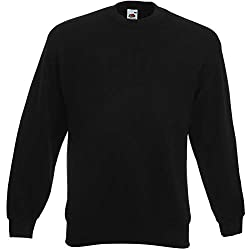 Fruit of the Loom Herren 62-202-0 Sweatshirt, Schwarz, Größe S