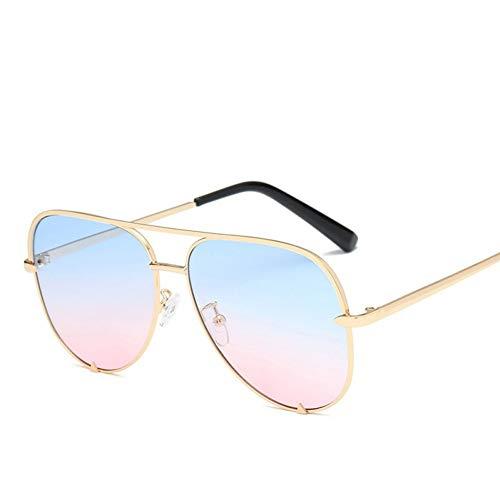 CCGSDJ Schwarz Aviator Sonnenbrille Silber Spiegel Metall Sonnenbrille Pilot Sonnenbrille Frauen Männer Shades Top Fashion Eyewear