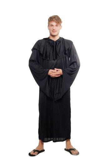 Kostüm Herren Damen Unisex Hexer Henker Schwarzer Magier Dämonischer Priester Kult L047 Größe 52 / (Kostüm Halloween Teufel Männer)