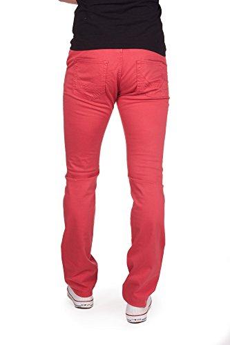 Redman ralph-Pantalon-Droit-homme Rouge
