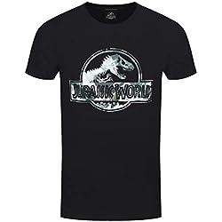 Jurassic World - Camiseta - para Hombre Negro Negro (Medium (97 cm/ 102 cm)