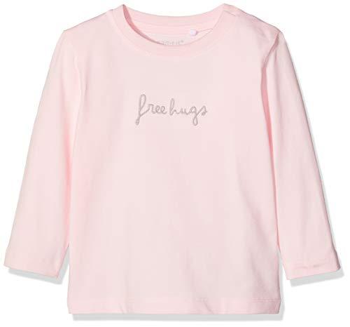 Name IT NOS Unisex Baby Sweatshirt NBNDELINUS LS TOP, Rosa (Ballerina), (Herstellergröße: 56) Baby-sweatshirt